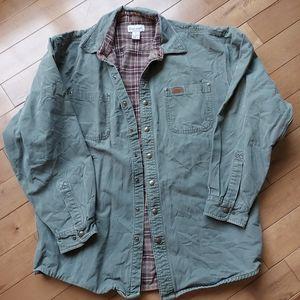 Carhartt Mens canvas shirt flannel lined